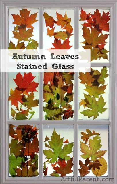 Autumn-Leaves-Craft-Make-a-Stained-Glass-Window
