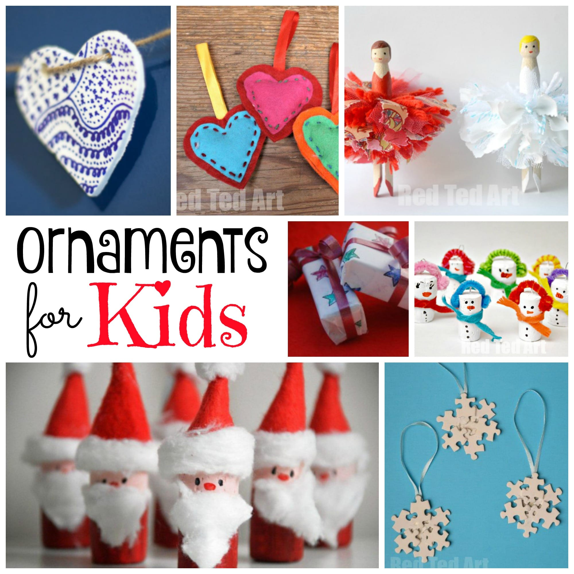 DIY Christmas Ornaments Red Ted Art Make crafting with