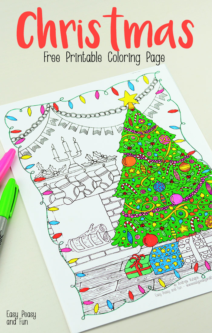 Detailed-Christmas-Coloring-Page1 - Red Ted Art's Blog