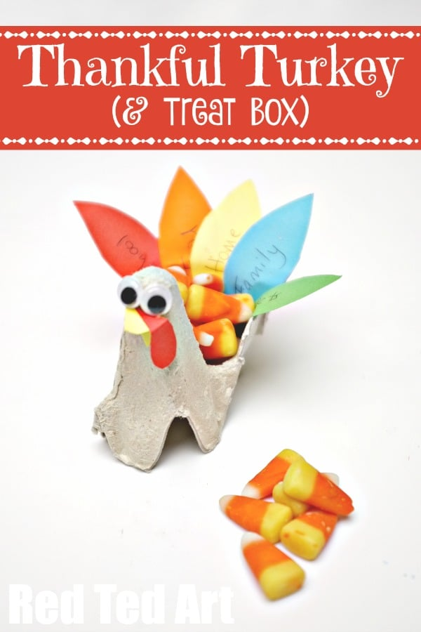 Egg Carton Turkey Craft for Thanksgiving