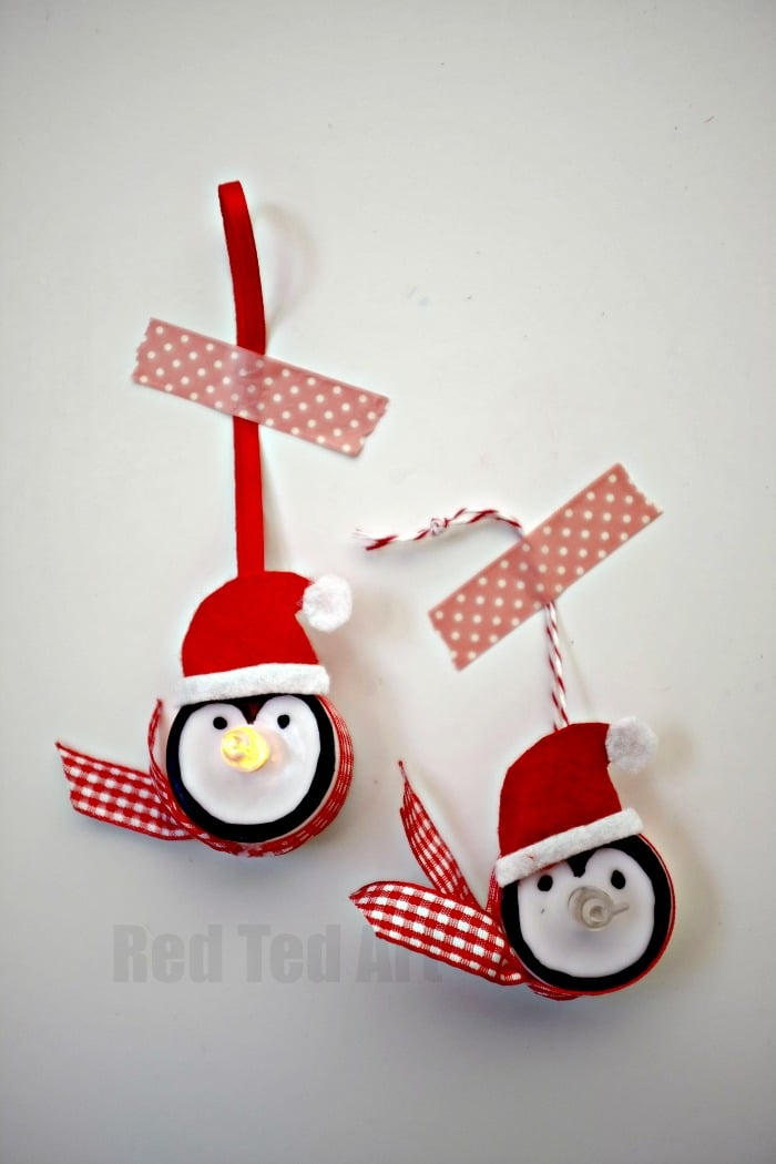 Light Up Penguin Ornaments, these are simply TOO CUTE - check out the snowman version too - great for school fairs and fundraisers
