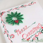 Paper Quilling for Beginners make an Christmas Wreath - perfect as Quilled Earrings or for Greeting Cards (11)