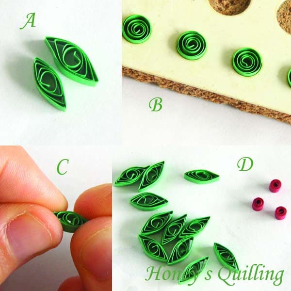 Paper Quilling for Beginners make an Christmas Wreath - perfect as Quilled Earrings or for Greeting Cards (4)