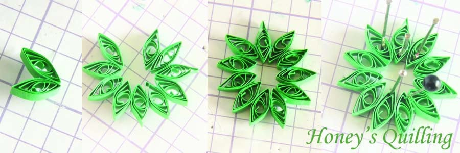 Paper Quilling for Beginners make an Christmas Wreath - perfect as Quilled Earrings or for Greeting Cards (5)