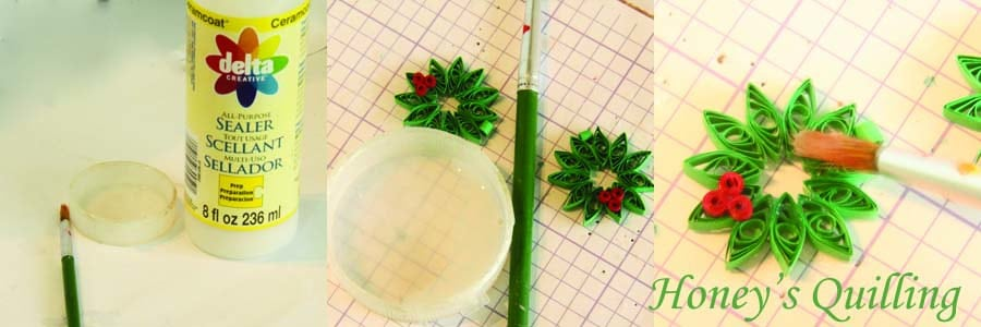 Paper Quilling for Beginners make an Christmas Wreath - perfect as Quilled Earrings or for Greeting Cards (7)