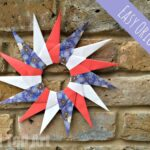Easy Origami Paper Star Wreath