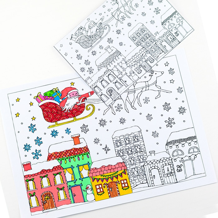 Christmas Colouring Pages For Grown Ups Red Ted Art S Blog