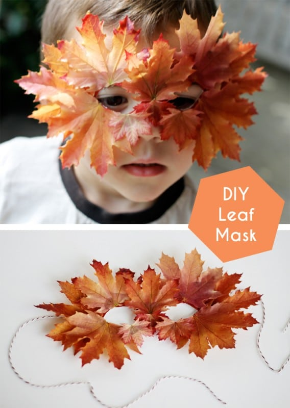 leaf craft ideas - here is a super sweet leaf mask idea