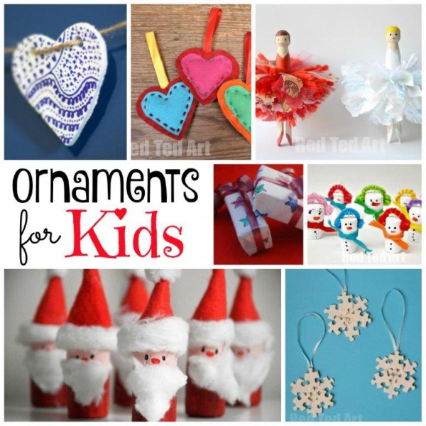 Collection of handmade Christmas Ornaments for kids
