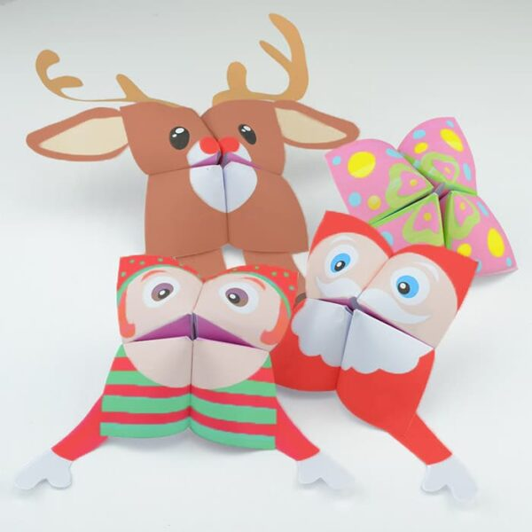 Christmas Printables - Fortune Teller Cootie Catchers (1)