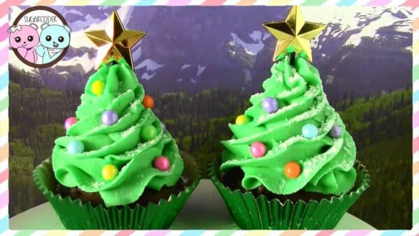 Christmas Tree Cupcake Recipe and How To