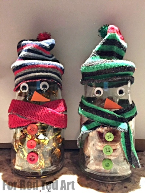 Decorate a Jar - snowman treats