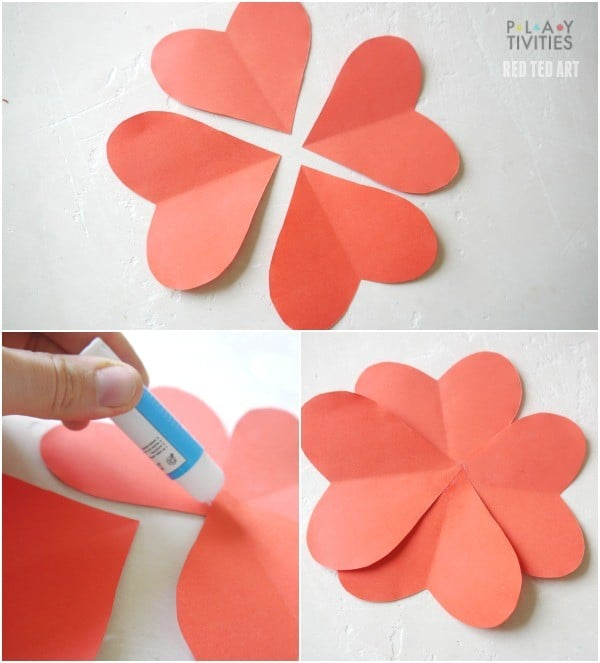 Healthy Valentine's Day Treats - Apple Heart Flowers (5)