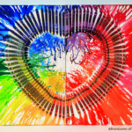DIY Melted Crayon Art – Heart Canvas