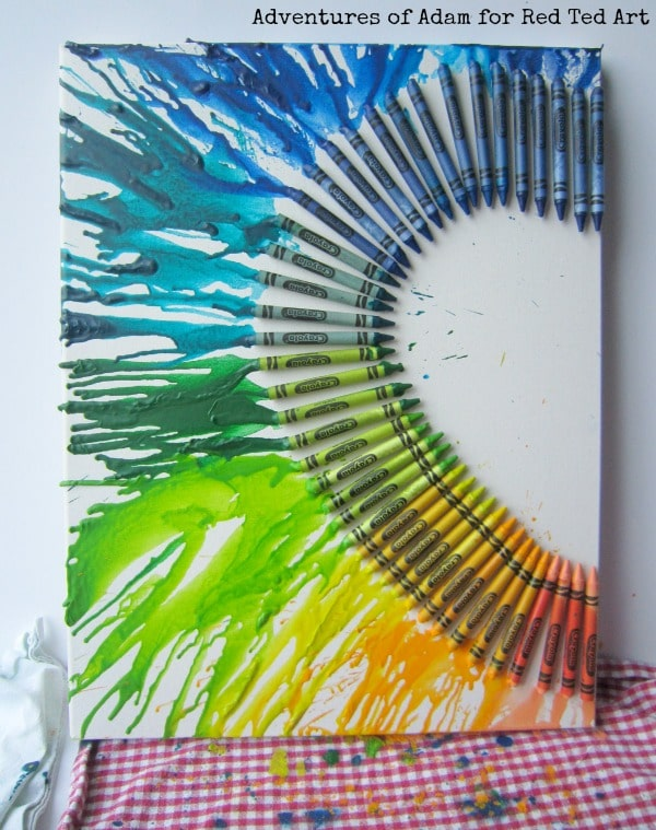 Melted crayon craft