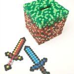 Minecraft Crafts: Perler Bead Moneybox