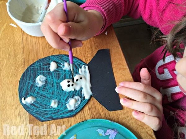 Puffy Paint Snowman Cards for Kids. Cute easy & super fun! Great as Holiday Cards or thank you cards