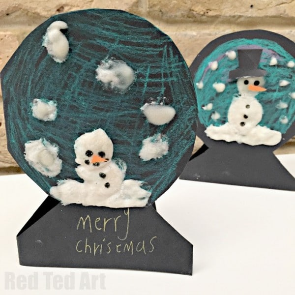 Puffy Paint Snowman Cards. Cute easy and super fun! Great as Holiday Cards or thank you cards