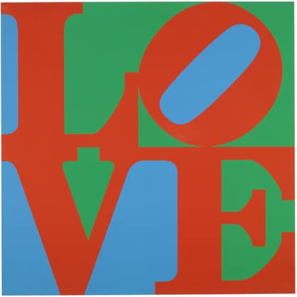 Robert Indiana LOVE - great artists projects for kids