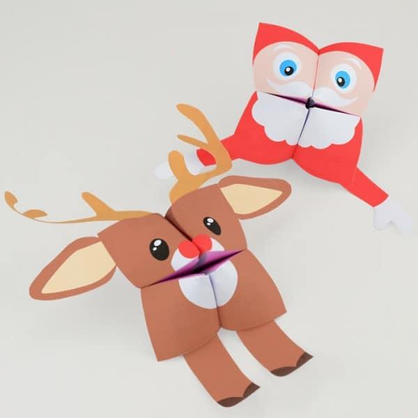 Santa & Rudolph Printable - Fortune Teller