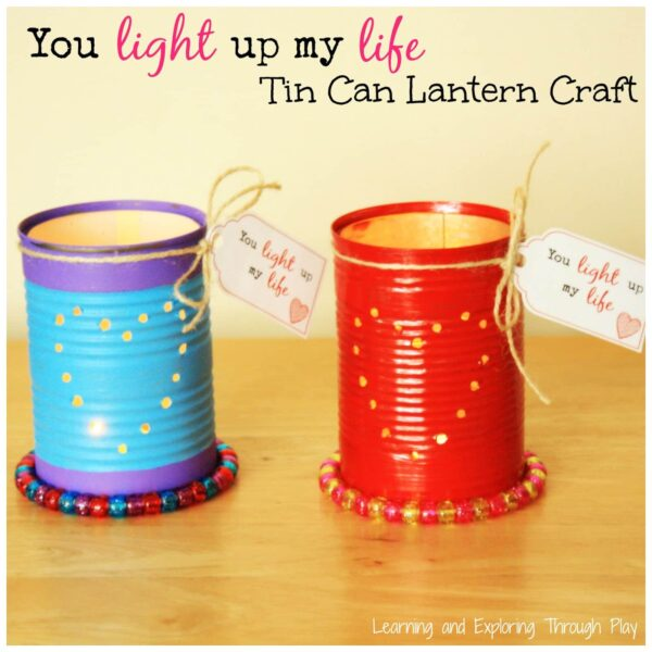Adorable Tin Can Luminaries - these would be perfect for a garden party, a wedding or on valentine's day. Love the step by step DIY to this tin can lantern how to