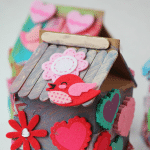 Birdhouse Idas for Kids made from Milk Cartons, these are an adorable valentines day activity for kids