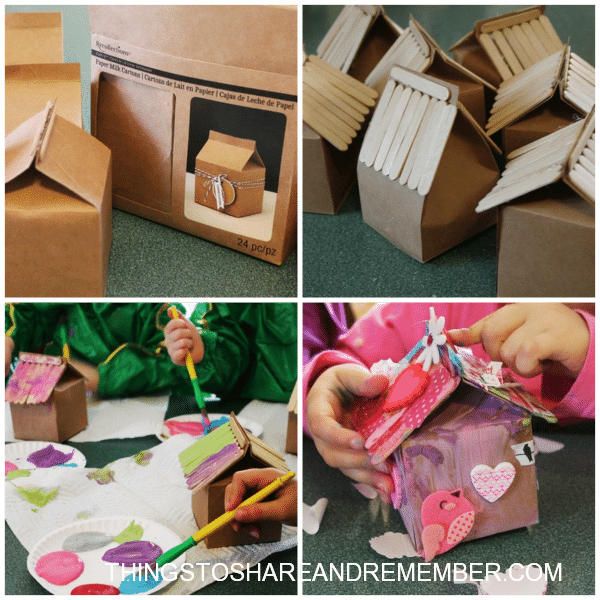 Recycled Milk Carton Birdhouse Craft For Kids Red Ted Art S Blog