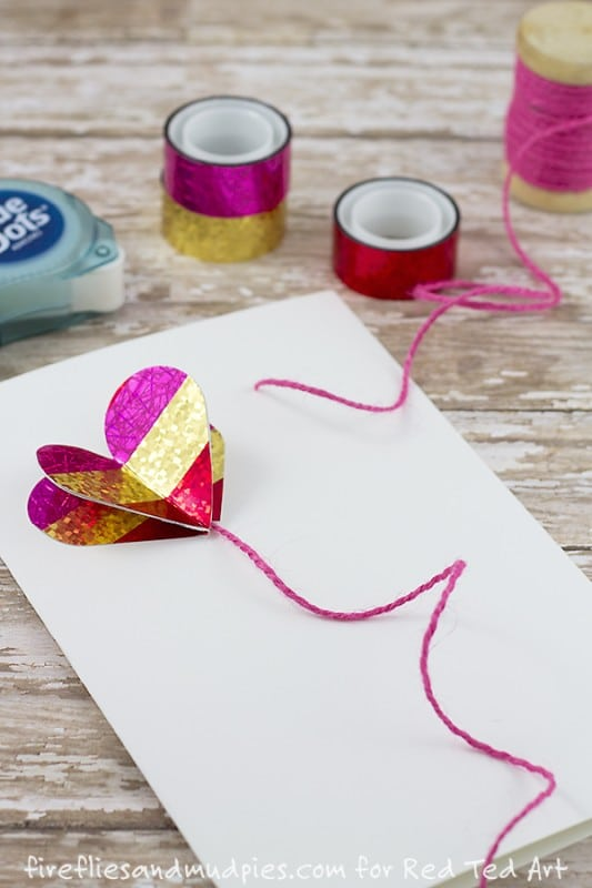 DIY 3D Heart Card - beautiful and easy diy cards for Valentines and Weddings
