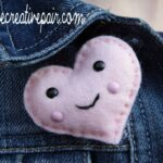DIY Felt Heart Brooch