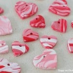 DIY Heart Charms - a great how to make polymer marble (2)