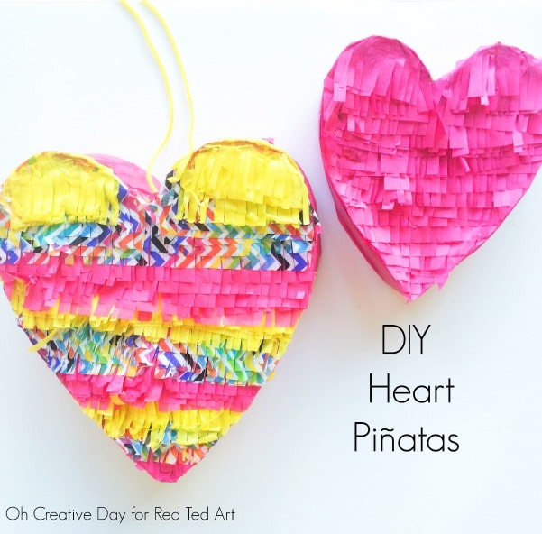 DIY Pinata Heart Craft