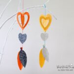 Easy Paper Crafts - a gorgeous heart mobile - super cute decoration for Valentine's Day or for a child's bedroom (2)