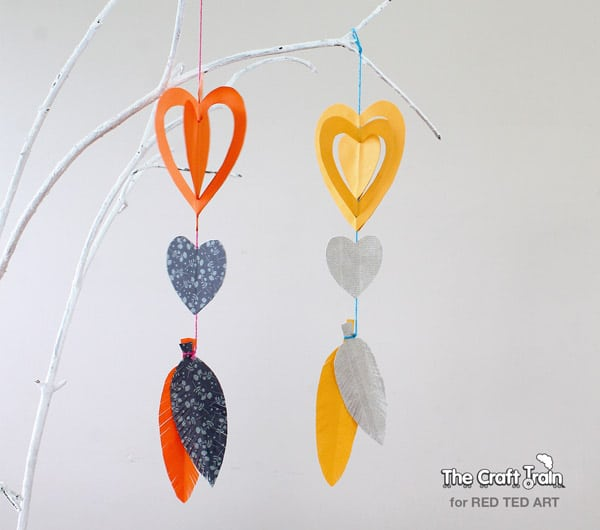 Easy Paper Crafts A Gorgeous Heart Mobile Super Cute Decoration For Valentines Day Or Childs Bedroom 2