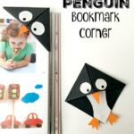 Easy Penguin Bookmark Corner