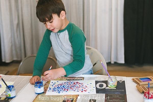 Pointillism for Kids – Hearts