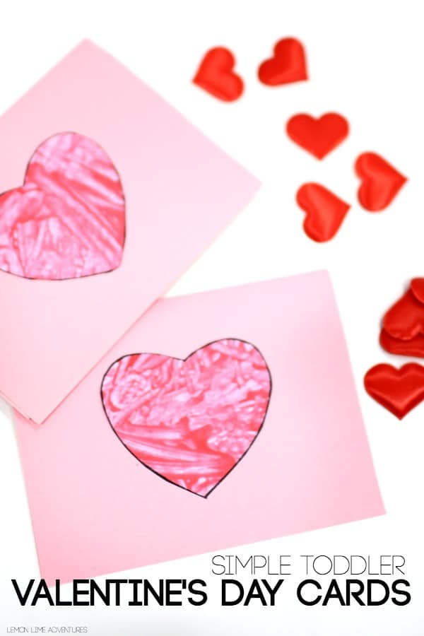 Toddler Valentines Day Cards Red Ted Arts Blog – Simple Valentines Day Cards