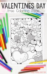 Field-of-Hearts-Valentines-Day-Coloring-Page-for-Adults-and-Kids