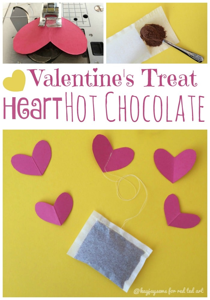 Heart Teabag Hot Chocolate Treats for Valentines Day