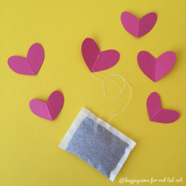 Heart Teabags DIY - Valentines Hot Chocolate