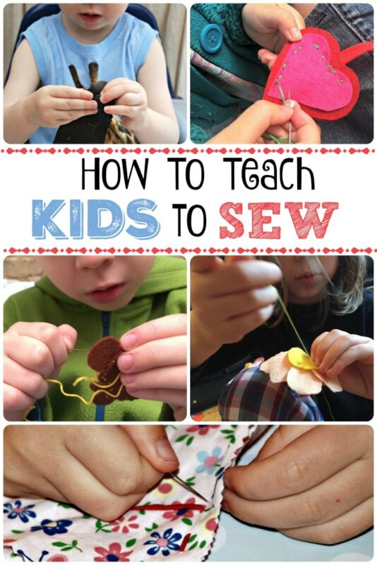 How To Teach Kids to Sew - if you are thinking of teaching your kids to sew, here is a great guide with some pointers to get them started!