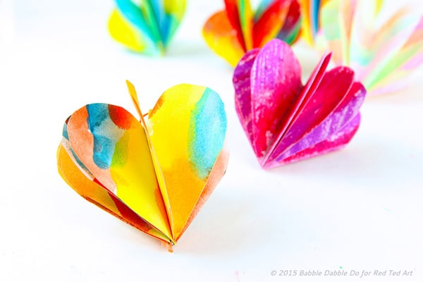 3D Paper Heart – Valentine's Day Craft & Decoration