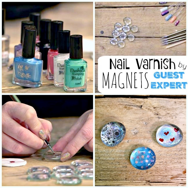 Easy Nail Varnish Magnets Crafts