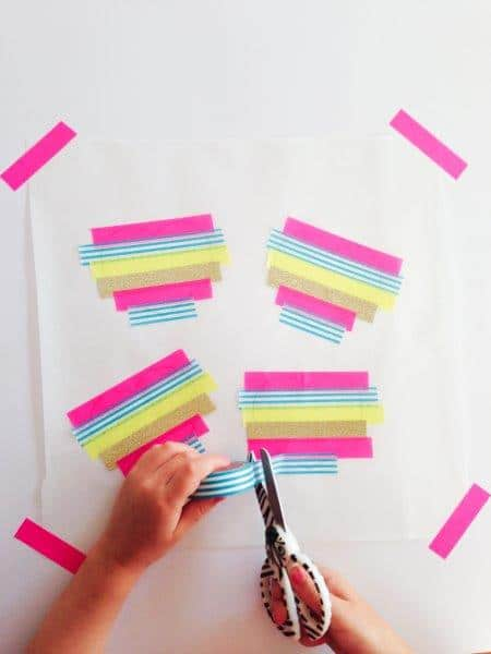 How to make Washi Tape DIY Stickers - such a fun way to create your own designs (5)
