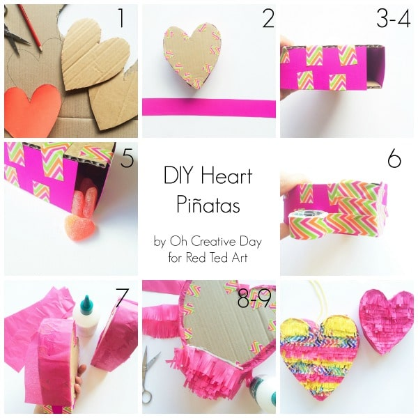 How to make a DIY Pinata heart