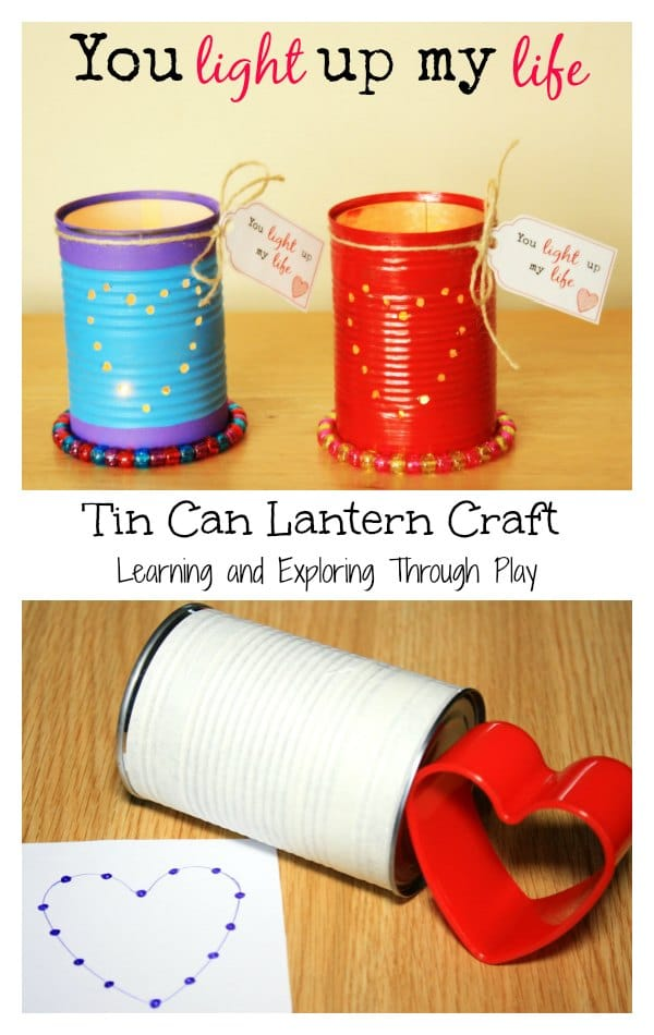 How to make tin can luminaries - as super fun DIY showing step by steps to make these cute upcycled tin can lanterns