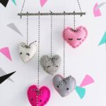 DIY Felt Heart Mobile