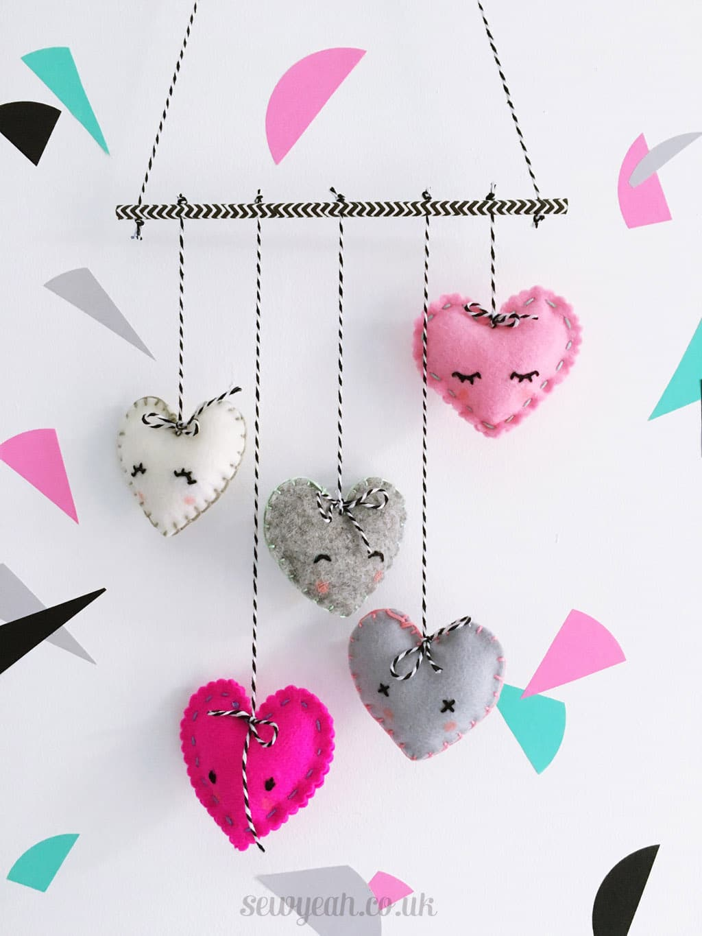 DIY Felt Heart Mobile - Red Ted Art's Blog
