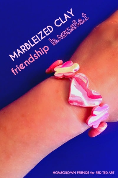 Marbled Clay Bracelets How To - a sweet friendship gift for Summer Camp, Back to School or Valentine's Day (3)