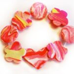 Marbled Clay Bracelets How To - a sweet friendship gift for Summer Camp, Back to School or Valentine's Day (6)