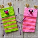 Paper Bag Crafts – Love Bug Puppets